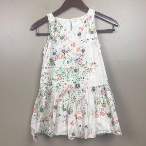 Zara girls floral cotton sleeveless dress